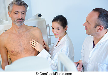internal check-up of a patient