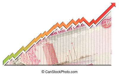 Money Growth Graph - A money bill looking like a growth...