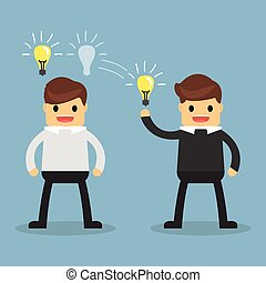 Business concept Ideas Sharing