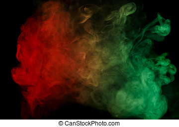 Abstract red green smoke Weipa - Abstract smoke Weipa....