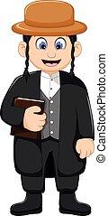 cartoon religious leader for you design - vector...