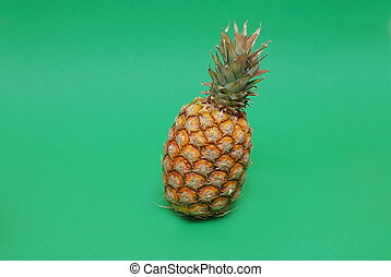 ananas on green background - ananas