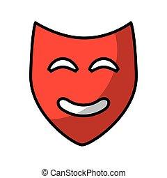teatro, clássicas, máscara, ícone