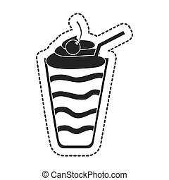 milkshake sweet isolated icon vector illustration design