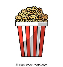 pop corn fast food vector illustration design