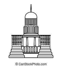 government building isolated icon vector illustration design