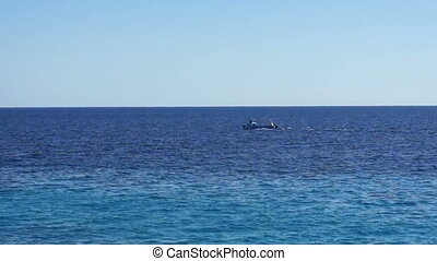 View of Red Sea and boat