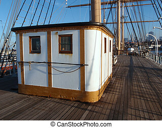 Deck of the CA Thayer in San Francisco Maritime National...