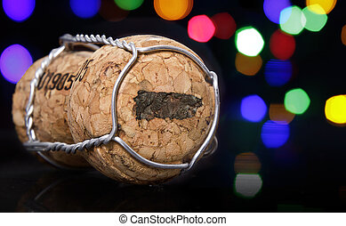 Cork with the shape of Puerto Rico burnt in.(series)