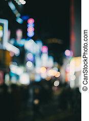 Defocused or Bokeh of City Night Life - Bokeh or defocused...