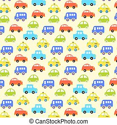 baby background for boys. Vector of Transportation colorful...