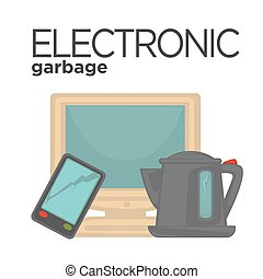 Vector symbol of electronic waste - Vector symbol of...
