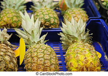 ananas in supermarket - ananas