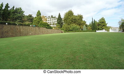 Green field for golf