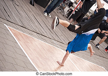 Breakdancer - Close up of a breakdancer