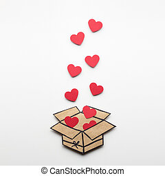 Full of love. - Creative valentines concept photo of a box...