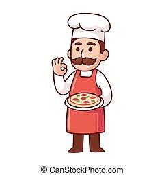 Italian pizza chef