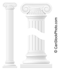 antique column stock vector illustration isolated on white...