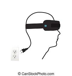 Virtual Reality Illustration - Virtual reality illustration...