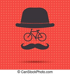 Hipster Bicycle Illustration - Hipster bicycle illustration...