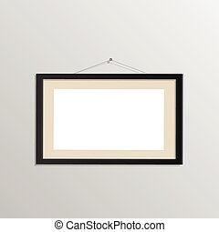 Hanging Picture Frame Illustration - Illustration of a...