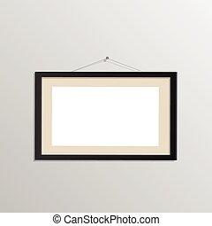 Hanging Picture Frame Illustration - Illustration of a...