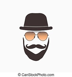 Hipster Sunglasses Illustration - Hipster sunglasses...