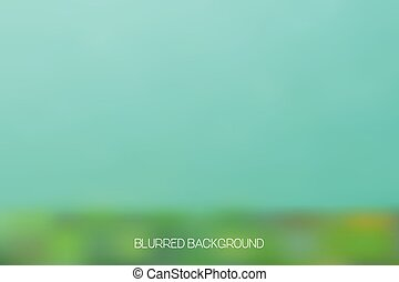 Abstract Ocean Blur Background Illustration - Colorful...