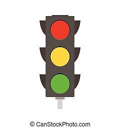 Traffic Light - Flat illustration of a traffic light...