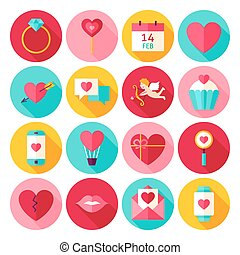 Valentines Day Love Flat Icons
