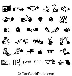 Buisness icons - business management icons set, organization...