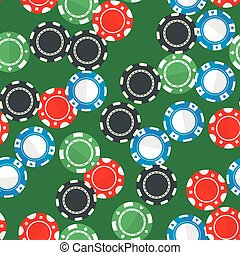 Casino gambling chips seamless pattern