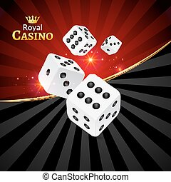 Dice vector casino design background. Dice gambling template concept. Casino background