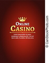 Casino logo template poster. Online Casino background design