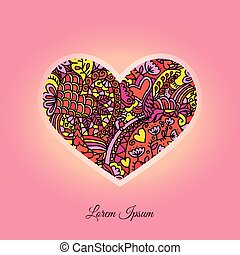 Greeting Card On St Valentines Day. - Greeting Card On St...