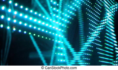 Universe colorful moving bokeh unfocused lights in club -...