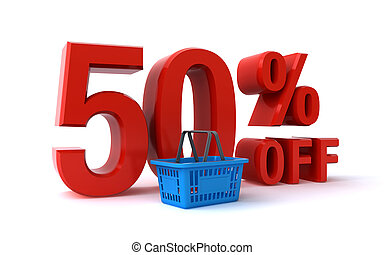 50 percent discount - 3d render of a 50 percent off discount...