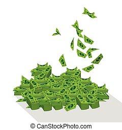 Dolar. a bunch of mountain money - Dolar. a bunch of...