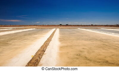 Panorama of Endless Vaporized Salt Fields - panorama of...