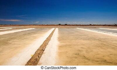 Panorama of Endless Vaporized Salt Fields - panorama of...