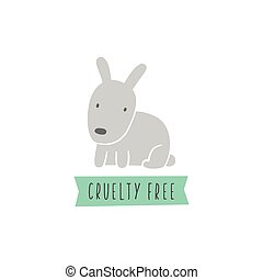 Rabbit sign. Cruelty free. Vegan. - Rabbit sign. Cruelty...