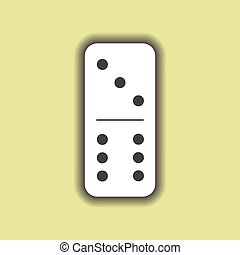 Domino white. Three and six on isolated background