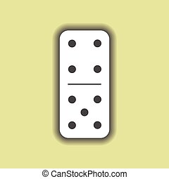 Domino white. four and five on isolated background