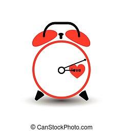 clock. love time. Valentine s Day