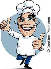 Master Chef - Illustration, master chef as icon or mascot...