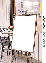 Menu frame in front of Restaurant . - Menu frame in front of...