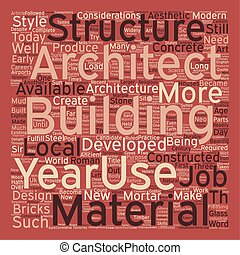 Architecture and Architects Jobs text background wordcloud concept