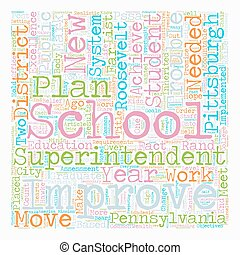 Are Pittsburgh Schools In Trouble text background wordcloud...