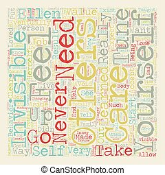 Are You Invisible text background wordcloud concept