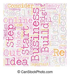 Are You Ready For A Successful Online Business text background wordcloud concept